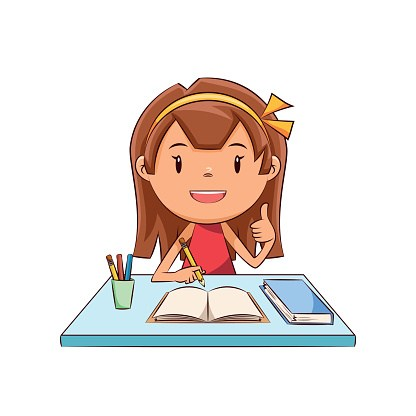 Homework clipart pictures graphic black and white library Girl doing homework clipart 1 » Clipart Portal graphic black and white library