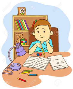 Homework clipart pictures svg free library Kid Doing Homework Clipart | Free Images at Clker.com - vector clip ... svg free library