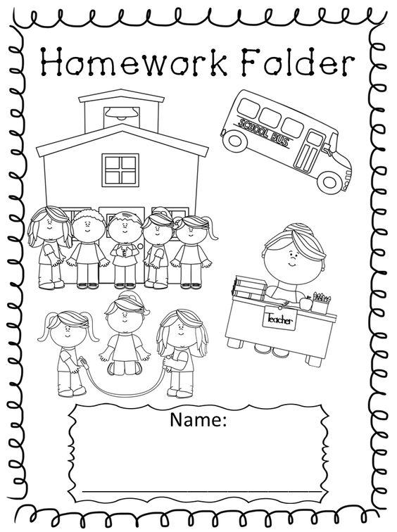 Homework sheet clipart clipart black and white Best ideas about Homework Folder Cover, Chart Homework and ... clipart black and white