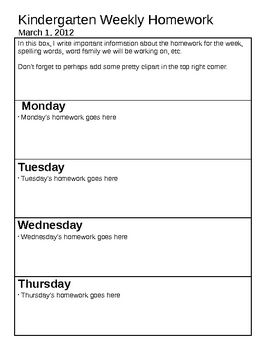 Homework sheet clipart freeuse library 17 Best ideas about Weekly Homework Sheet on Pinterest | Homework ... freeuse library