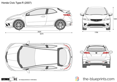 Honda civic type r clipart clip art library download Honda Civic Type-R vector drawing clip art library download