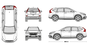 Honda crv clipart clipart freeuse Clipart suv honda crv for free download and use images in ... clipart freeuse