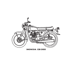 Honda motorcycle clipart clipart free download Honda CB 350 motorcycle, year 1969 clipart, cliparts of Honda CB 350 ... clipart free download