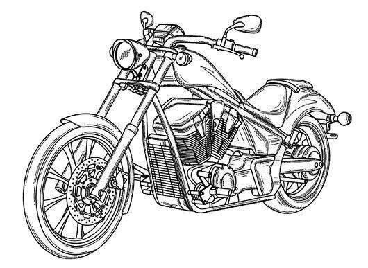 Honda motorcycle clipart graphic Honda motorcycle clipart black and white 2 » Clipart Portal graphic