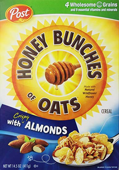 Honey bunches of oats cereal clipart jpg black and white stock Post Honey Bunches Oats With Almond (411 Grams) jpg black and white stock
