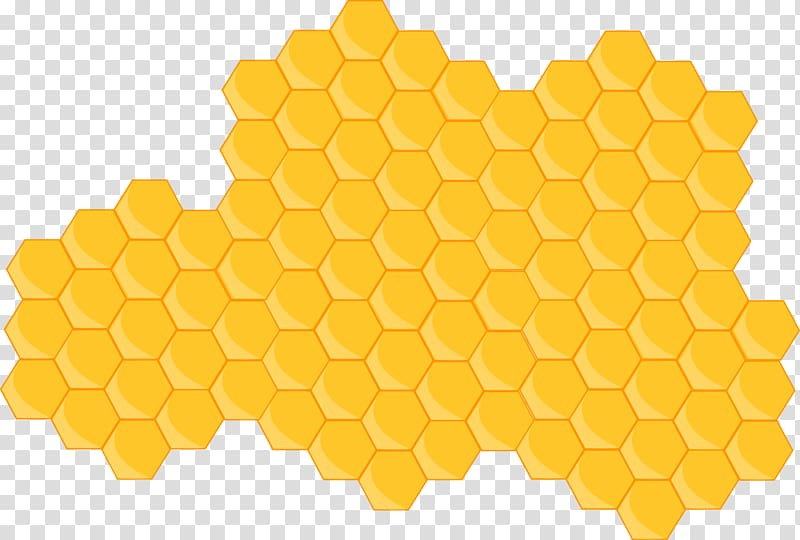 Honeycomb border clipart picture black and white library Black hexagon formation illustration, Western honey bee Honeycomb ... picture black and white library