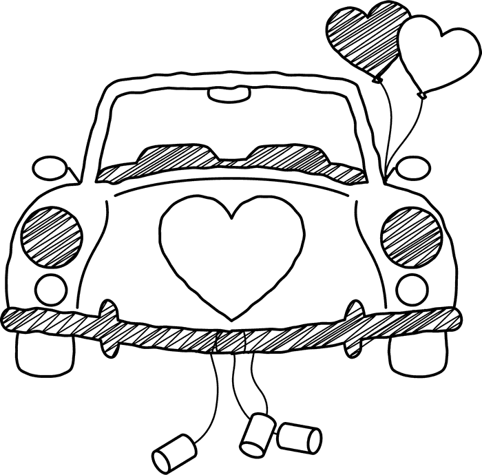 Honeymoon car clipart image freeuse library Just Married Car Drawing at GetDrawings.com | Free for personal use ... image freeuse library