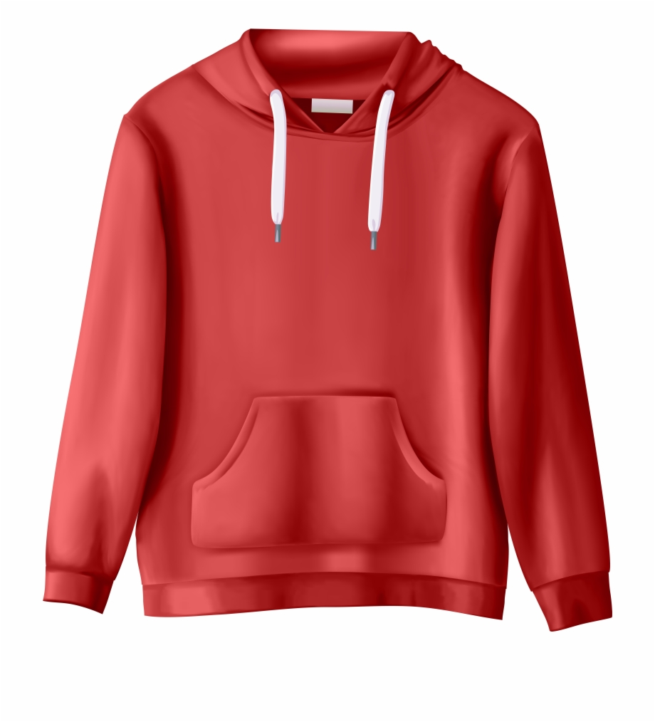 Sweatshirts clipart banner free stock Red Sweatshirt Png Clip Art - Transparent Background Clothes Clipart ... banner free stock