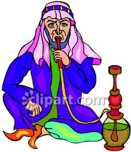 Hookah smoke clipart graphic download A Man Smoking Out of a Hookah - Royalty Free Clipart Picture graphic download