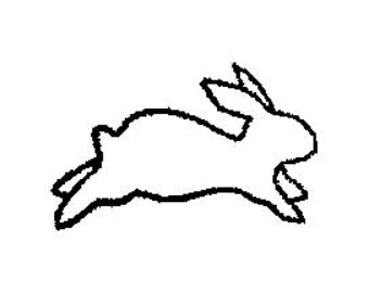 Hopping bunny clipart picture freeuse stock Hopping Bunny Rabbit Outline | Clipart Panda - Free Clipart Images picture freeuse stock