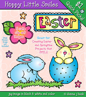 Hoppy bunny clipart clipart download Cute little bunny clip art for Easter by DJ Inkers - DJ Inkers clipart download