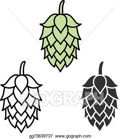 Hops beer clipart free stock Clip Art Vector - Hop beer sign symbol label. Stock EPS gg73639737 ... free stock