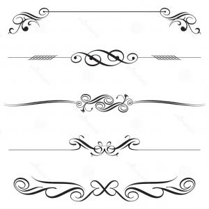 Horizontal floral line clipart image royalty free library Top Set Of Floral Horizontal Borders Vector Clipart Image - Clip Art ... image royalty free library