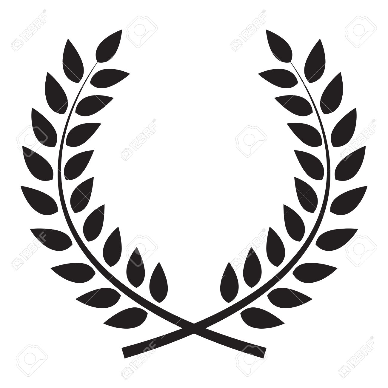 Wreath clipart free download banner royalty free stock Laurel Leaf Clip Art | Free download best Laurel Leaf Clip Art on ... banner royalty free stock