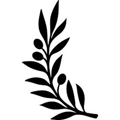 Horizontal laurel twig clipart black and white image freeuse library Laurel clipart single - 115 transparent clip arts, images and ... image freeuse library