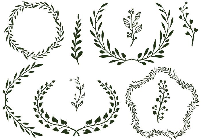 Horizontal laurel twig clipart black and white clipart free download Laurel Free Vector Art - (9,089 Free Downloads) clipart free download
