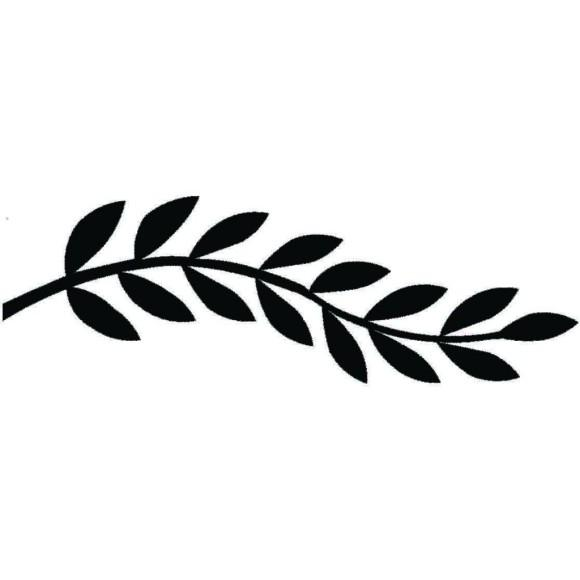 Horizontal laurel twig clipart black and white vector free download Leaf Clipart Black And White   Free download best Leaf Clipart Black ... vector free download