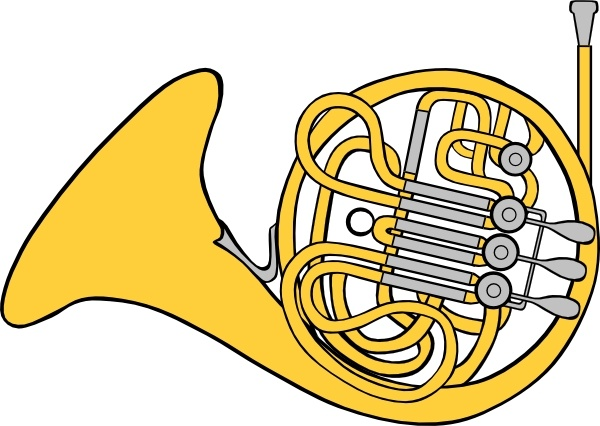 Horn clipart free picture black and white French Horn clip art Free vector in Open office drawing svg ... picture black and white