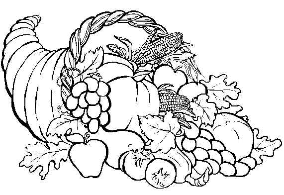 Horn of plenty clipart black and white image library Horn Of Plenty Clipart Black And White image library