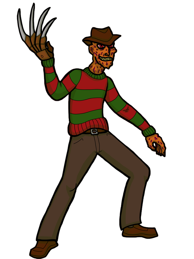 Horror book clipart free library ICHF: Freddy Krueger   Horror Flora free library