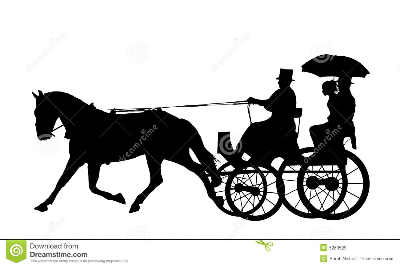 Horse and carriage clipart vector free download Horse and Carriage Silhouette | Antique\'s and things ... vector free download