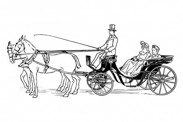 Horse and carriage clipart png freeuse Horse Drawn Carriage Clipart Free Stock Photo - Public ... png freeuse