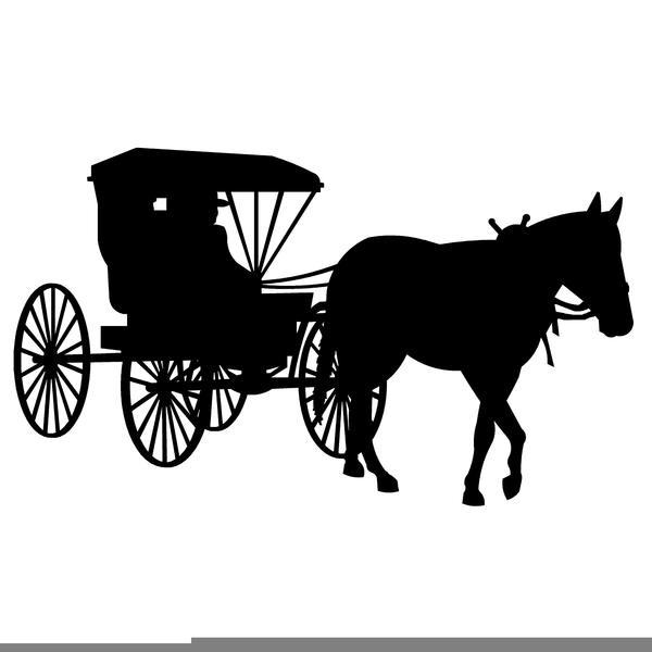 Horse and carriage clipart png download Amish Horse Buggy Clipart Free Images At Clker Com Vector ... png download