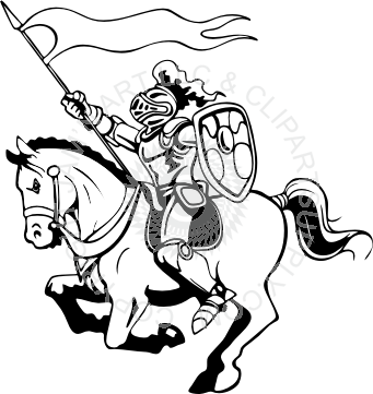 Horse and medieval rider black and white clipart graphic library stock Knight On Horse Clipart | Free download best Knight On Horse ... graphic library stock