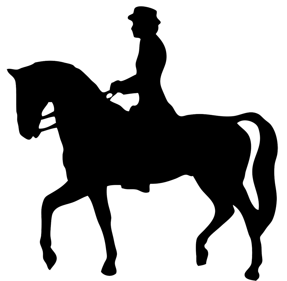 Horse and medieval rider black and white clipart graphic library stock Horse Silhouette graphic library stock