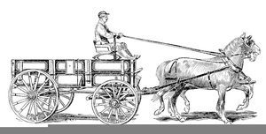 Horse and wagon clipart clipart library stock Horse And Covered Wagon Clipart | Free Images at Clker.com ... clipart library stock