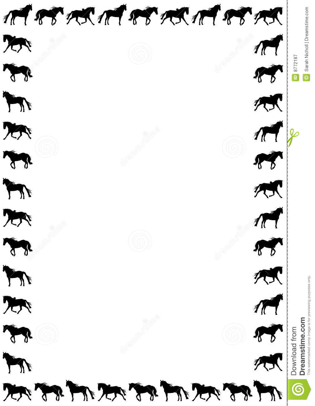 Horse clip art borders image freeuse library Free Horse Border Clipart - Clipart Kid image freeuse library
