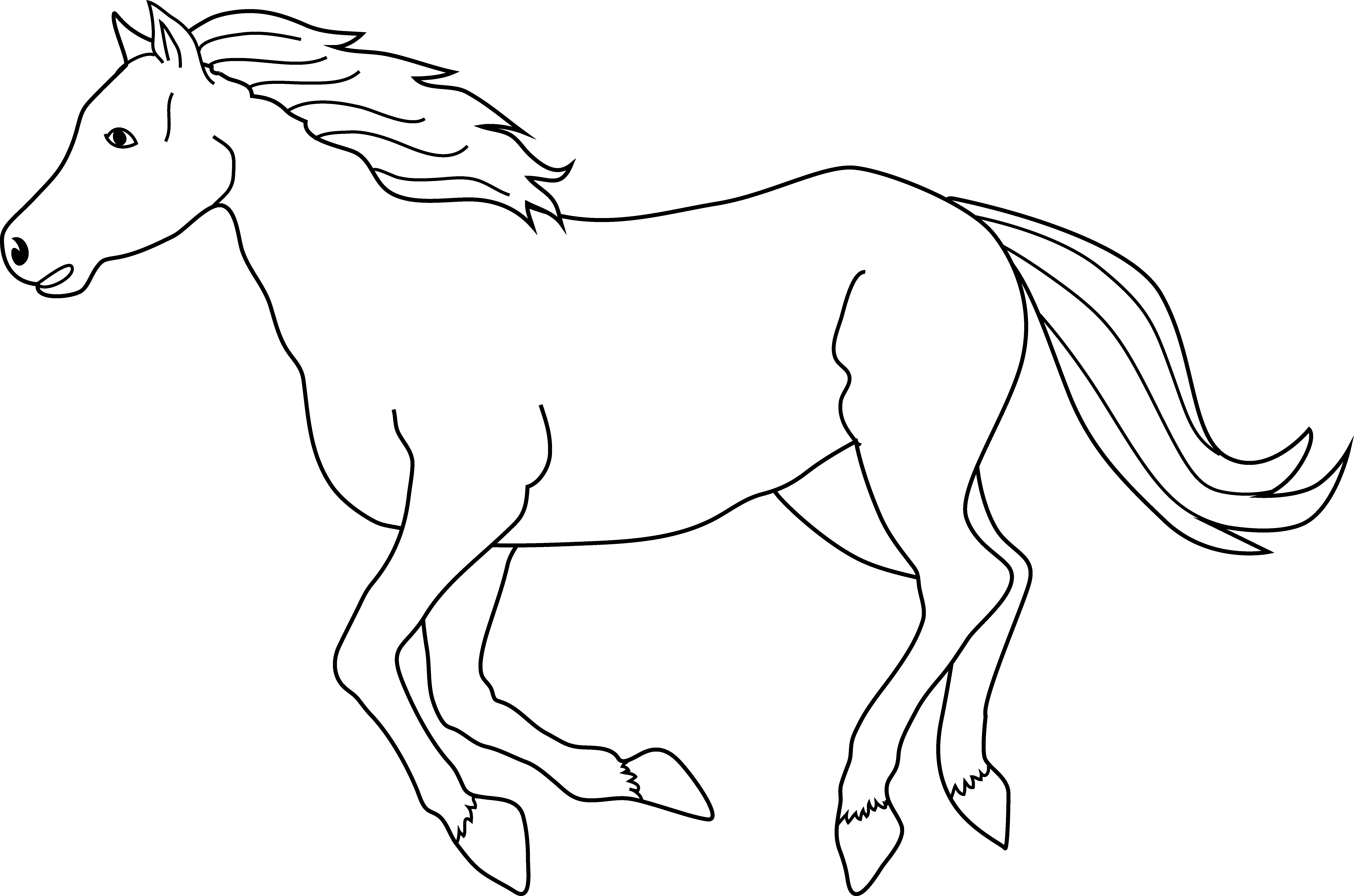 Horse clipart black and white top down vector black and white download Free Horse Line Art, Download Free Clip Art, Free Clip Art ... vector black and white download