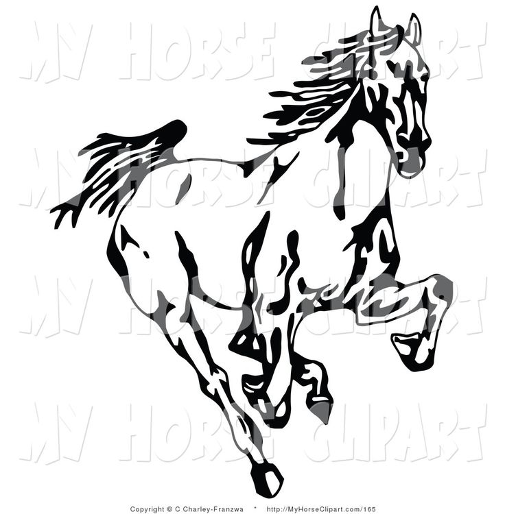 Horse clipart black and white top down png free library Running Clipart Black And White | Free download best Running ... png free library
