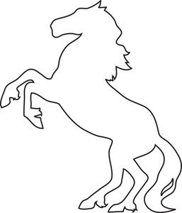 Horse clipart black and white top down picture freeuse download Rearing White Horse Tattoo Pictures To on ... - ClipArt Best ... picture freeuse download