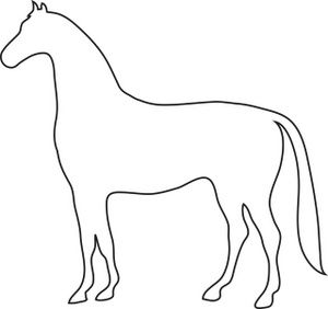 Horse clipart outline clip black and white stock Free Horse Clip Art Image: Outline Drawing of a Horse ... clip black and white stock
