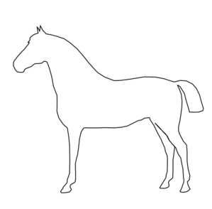 Horse clipart outline banner black and white Horse Outline Clip Art at Clker.com - vector clip art online ... banner black and white