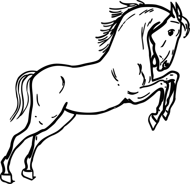Horse clipart outline png transparent Free Clipart: Jumping horse outline | warszawianka png transparent