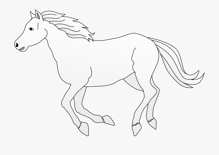 Horse drawing clipart jpg black and white stock Download Horse Clipart Black - Horse Running Away Drawing ... jpg black and white stock