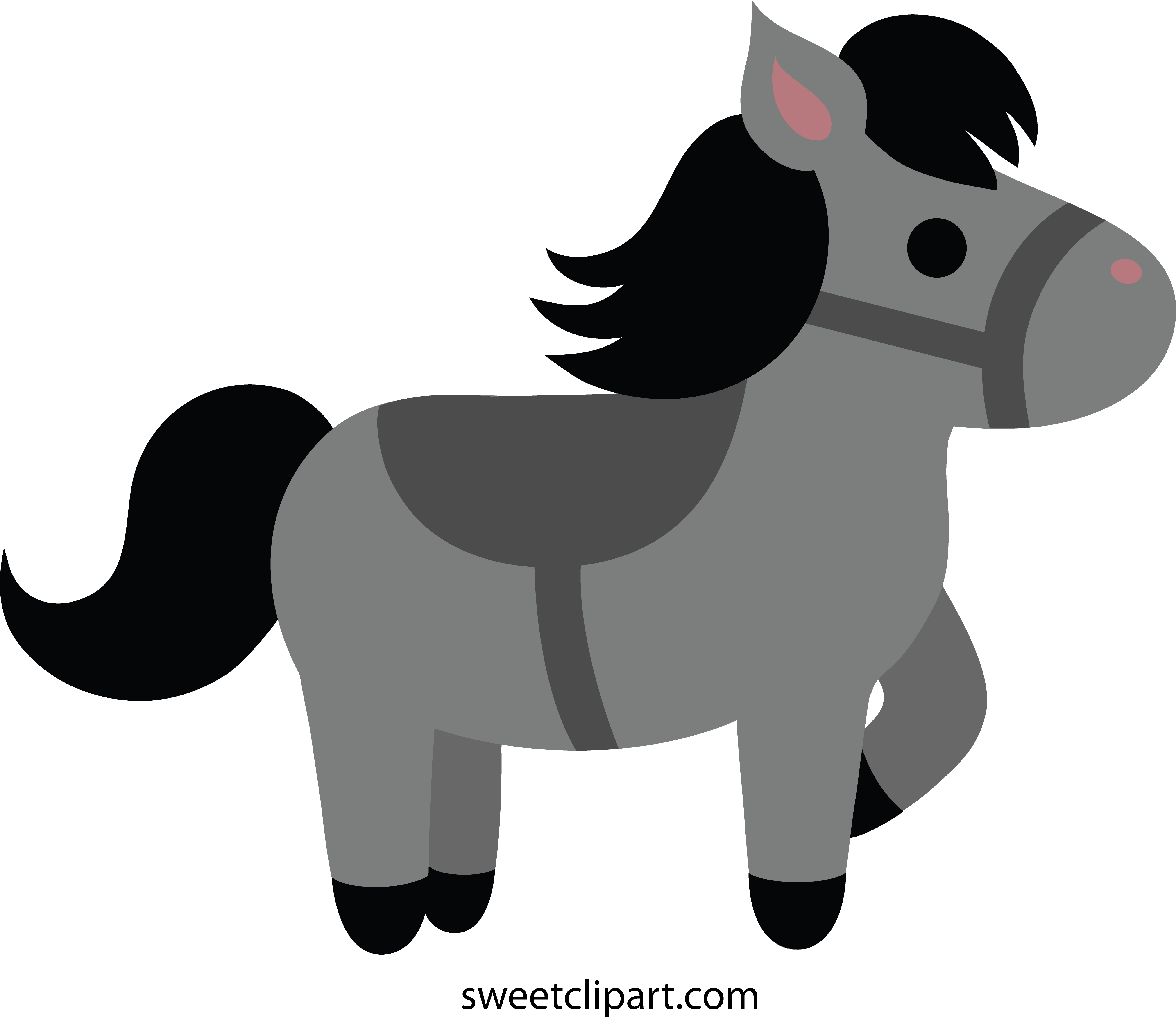 Horse halloween clipart clip royalty free Horse Clipart grey - Free Clipart on Dumielauxepices.net clip royalty free