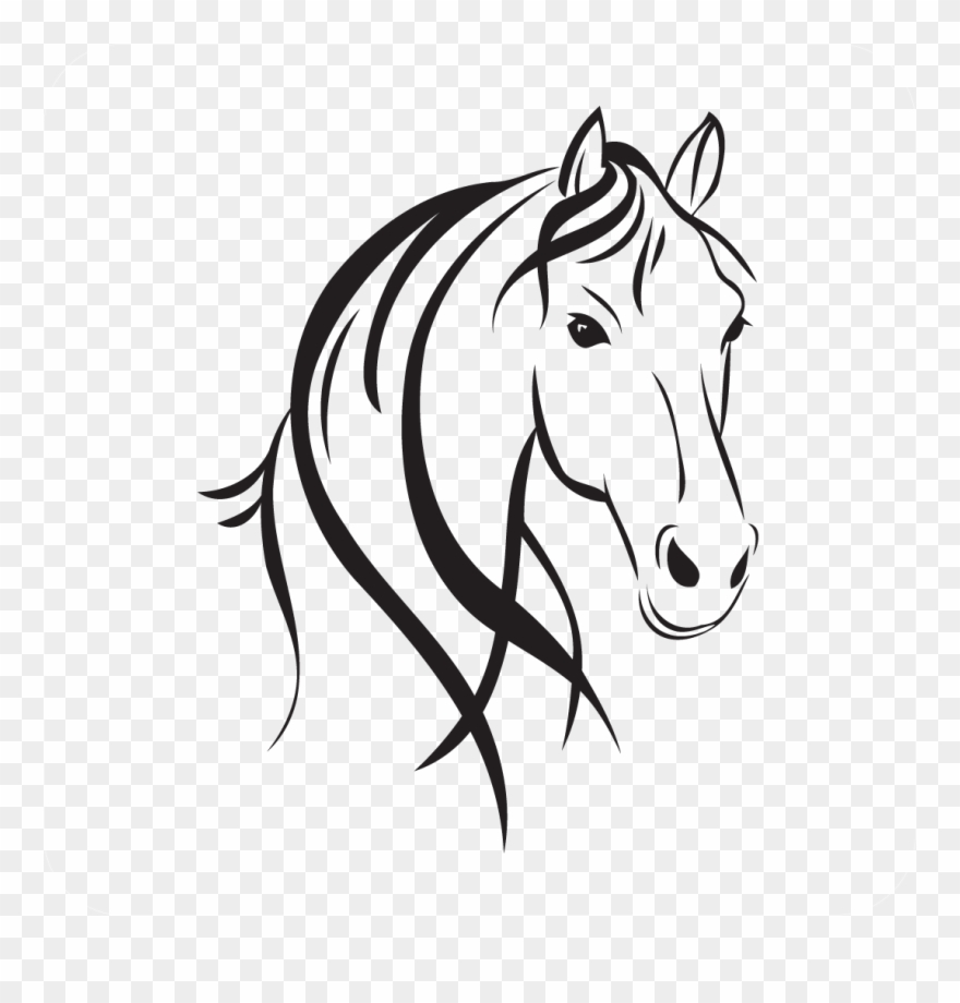 Horse heads facing each other clipart high resolution image royalty free library Horse Head Style - Horse Head Outline Clipart (#853031 ... image royalty free library