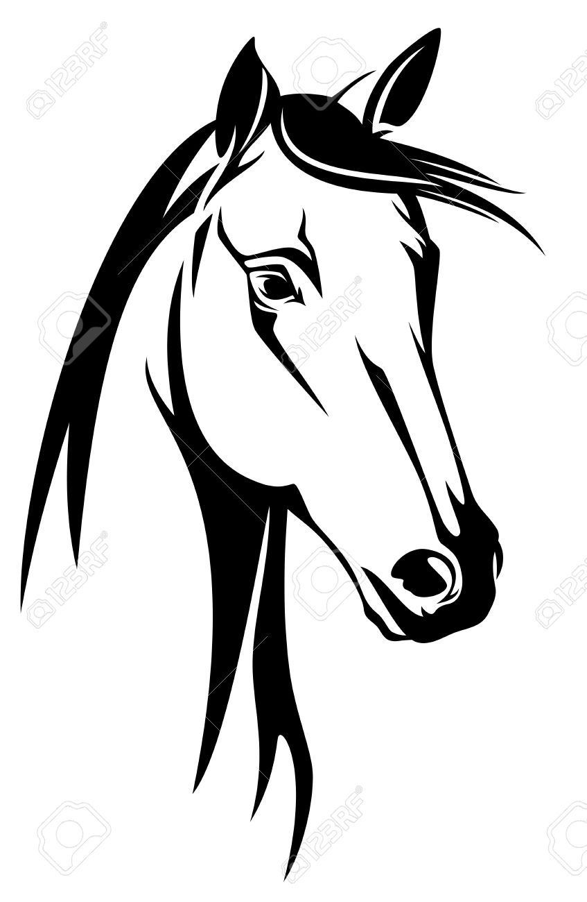 Horses are my heart beat clipart freeuse download Stock Vector | Drawings | Horse drawings, Horse stencil ... freeuse download
