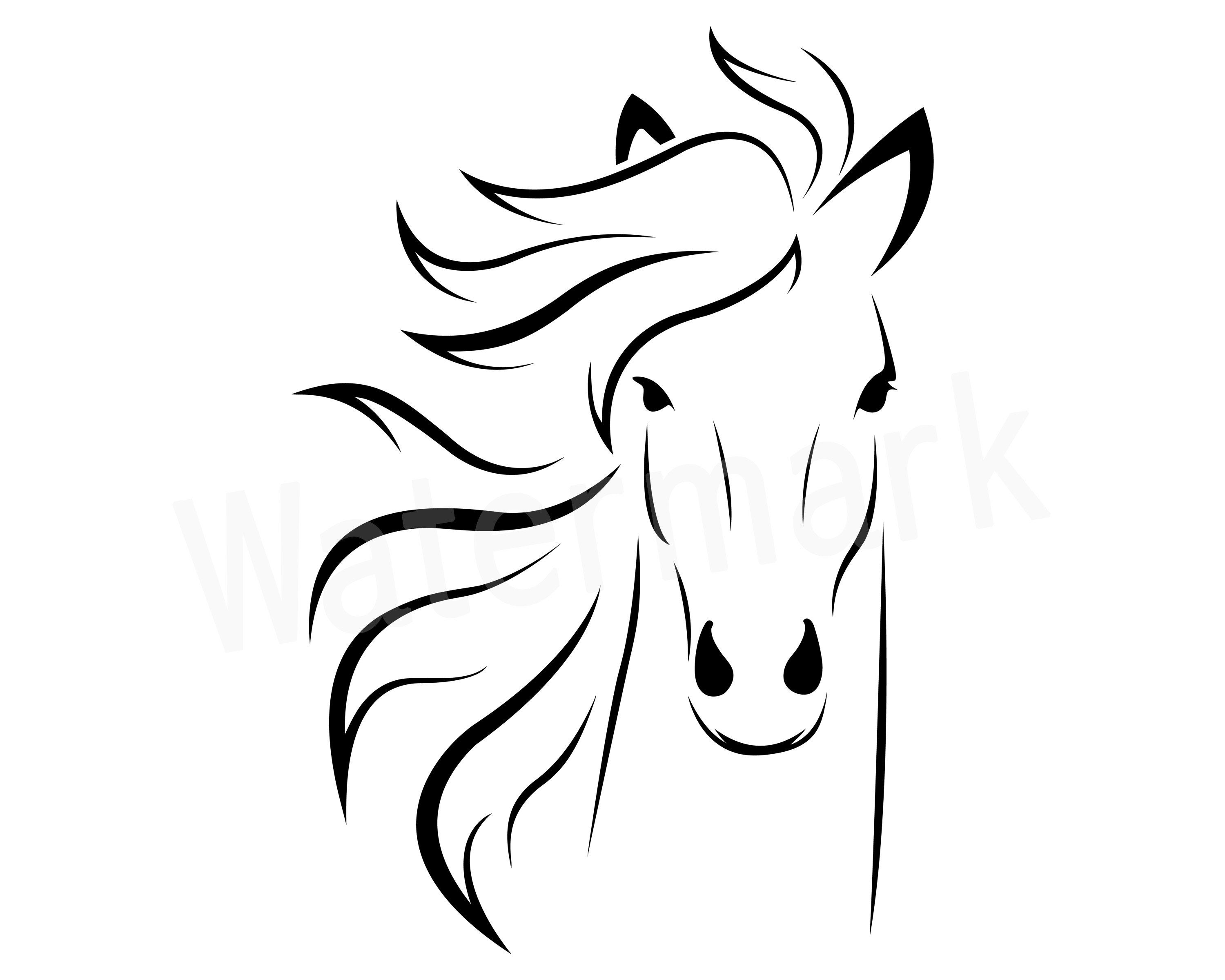 Horse vector clipart vector free stock Horse Head SVG, Pony SVG, Horse Vector, Horse Decal, Horse ... vector free stock