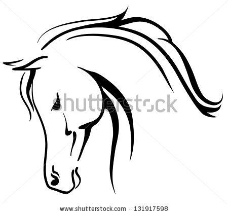 Horse head profile clipart vector freeuse Horse Profile Drawing | Free download best Horse Profile ... vector freeuse