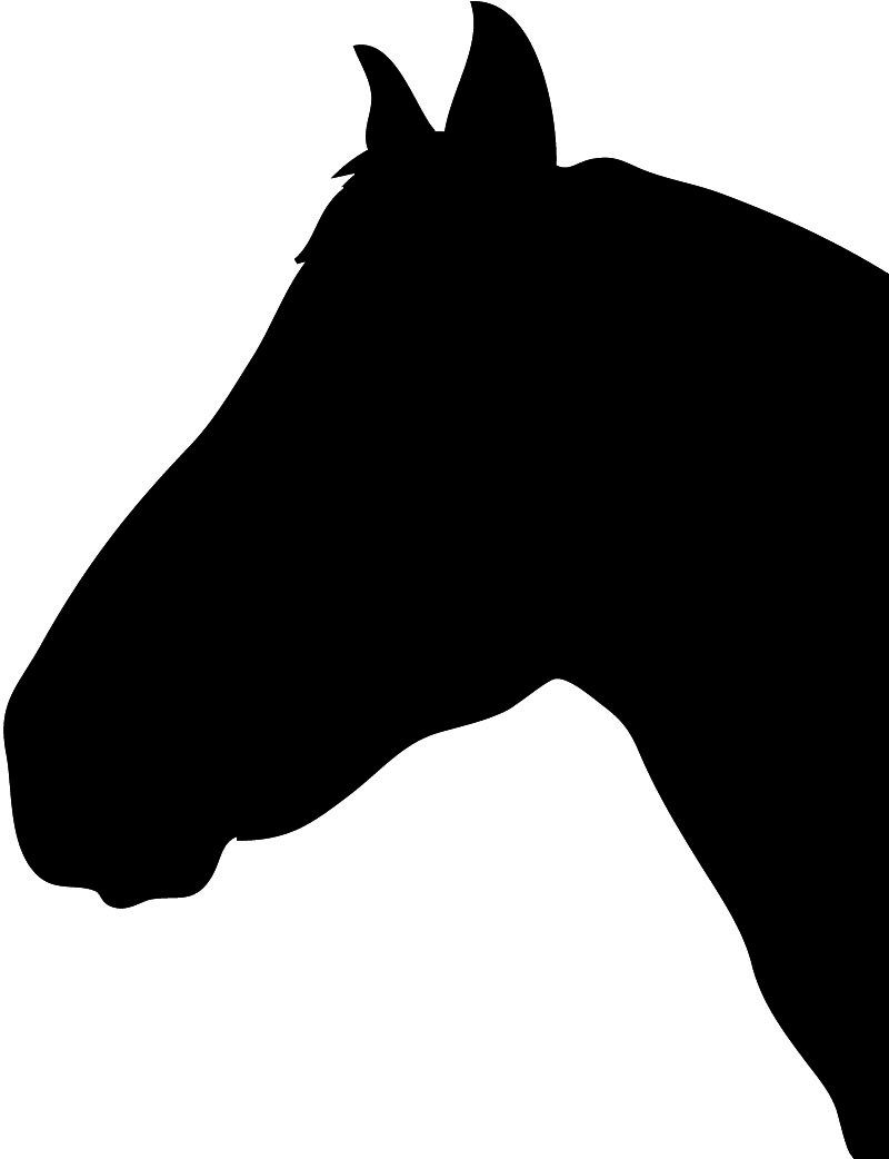 Horse heads facing each other clipart high resolution clipart freeuse download Free Horse Head Silhouette, Download Free Clip Art, Free ... clipart freeuse download