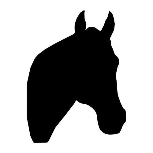 Horse head silhouette clipart images svg free stock Amazon.com - Horse Head Silhouette - 64-24\
