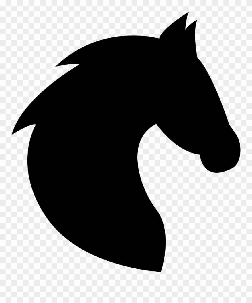 Horse head silhouette clipart images jpg library library Black Head Horse Side View With Horsehair Comments - Horse ... jpg library library