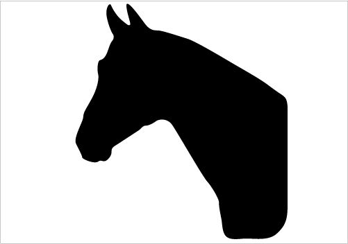 Horse head silhouette clipart images svg royalty free library Highly detailed horse head silhouette into your horse ... svg royalty free library