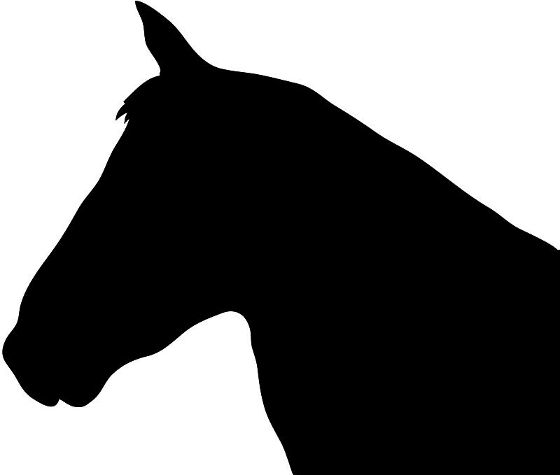 Horse heads facing each other clipart high resolution picture library library All the above silhouettes of horses and horse heads are all ... picture library library