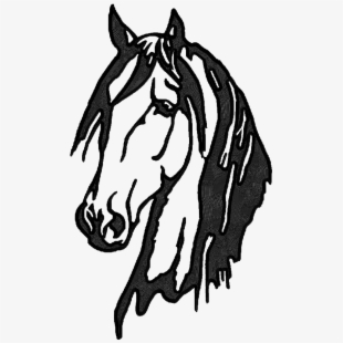 Horse heads facing each other clipart high resolution picture black and white library Horse Head - Horse Head Stamp #476015 - Free Cliparts on ... picture black and white library