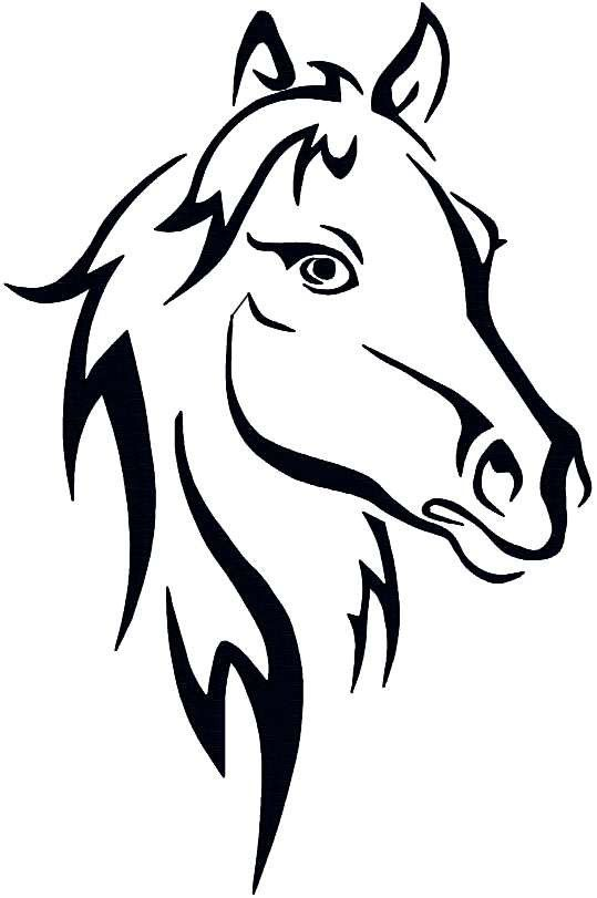 Horse heads facing each other clipart high resolution graphic library library Horse Head Tattoo Idea Photo: This Photo was uploaded by ... graphic library library